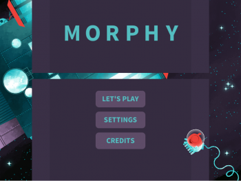 Title screen for the educational life science game, Morphy.