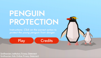 Penguin Protection title screen