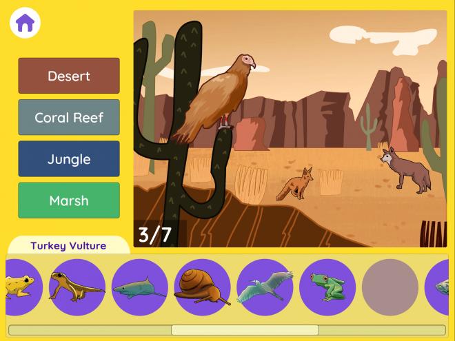 A desert habitat in Habitats